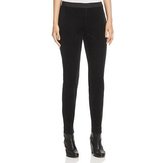 Eileen Fisher NEW Black Womens Size Small S Corduroys Stretch Pants