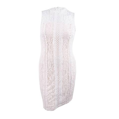 kensie Women's Geo-Lace Sheath Dress (14, Ivory) - Ivory - 14