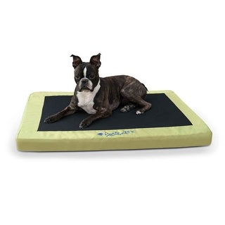 "K&H Pet Products Comfy n' Dry Indoor-Outdoor Pet Bed Medium Green 28"" x 36"" x 2.5"""