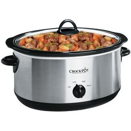 Crock-Pot SCV700-SS Oval Manual Slow Cooker, Stainless Steel