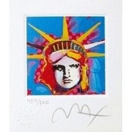 "Liberty Head I, Ltd Ed Lithograph (Mini 3.5"" x 3""), Peter Max"