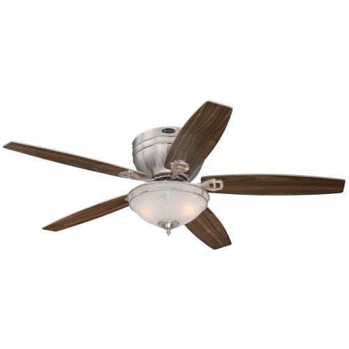 "Westinghouse 7200100 Carolina 52"" 5 Blade Hugger Indoor Ceiling Fan with Reversible Motor, Blades, and Light Kit Included"