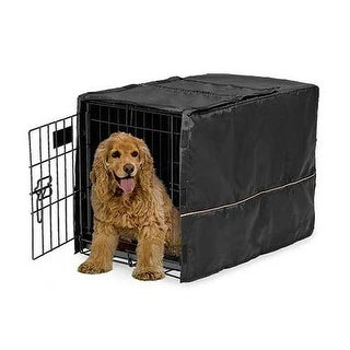"""Midwest Quiet Time Pet Crate Cover Black 30.5"""" x 20"""" x 20.5"""""""