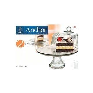 Anchor Hocking Monaco Dome Cake Set