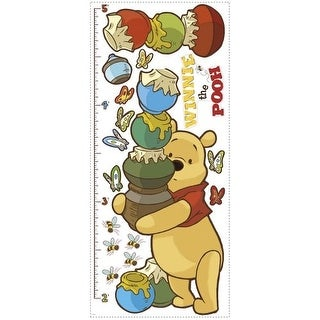 York Wallcoverings INT1501GC Winnie the Pooh - Pooh & Friends Peel and Stick Metric Growth Chart Wall Decals