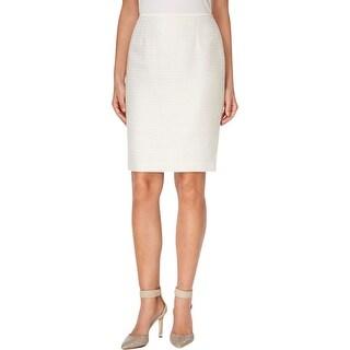 Calvin Klein Womens Pencil Skirt Metallic Sequined