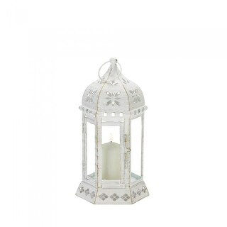 One Small and One Large Distressed Floral Lantern