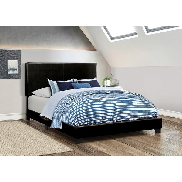 Porch & Den Manes Faux Leather Upholstered Bed. Opens flyout.