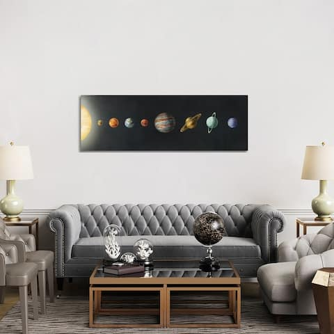 """iCanvas """"The Solar System Black"""" by Terry Fan Canvas Print"""