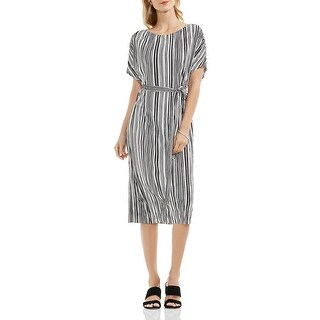 Vince Camuto Womens Casual Dress Sateen Plated