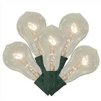 Transparent Clear Ps50 Edison Style Christmas Lights - Green