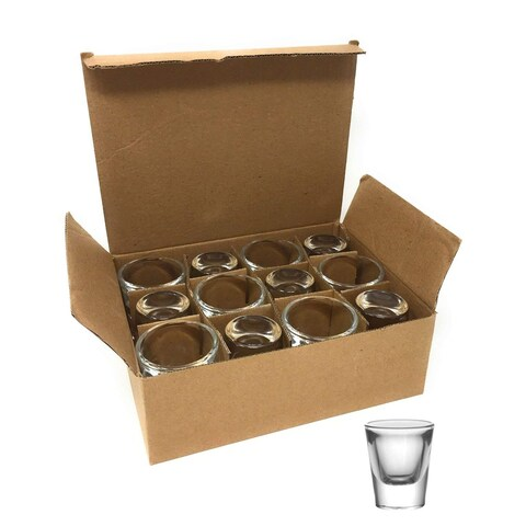 BarConic® 1 ounce Thick Base Clear Shot Glass (12 Pack)