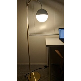Safavieh Lighting 55.5-inch Jonas Brass Floor Lamp