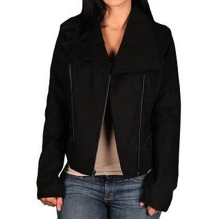 Marilyn & Me Junior Asymetrical Moto Faux Wool Jacket