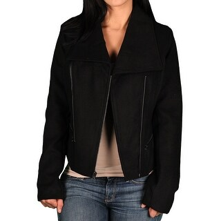 Marilyn & Me Junior Asymetrical Moto Faux Wool Jacket