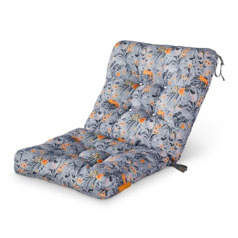 Vera Bradley by Classic Accessories Water-Resistant Patio Chair Cushion, 21 x 19 x 22.5 x 5 Inch