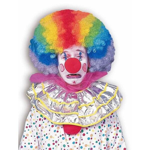 Rainbow Afro Clown Costume Wig - multi-color