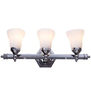 Costway 3-Light LED Vanity Fixture Polished Chrome Wall Sconces Lighting Bathroom - as pic