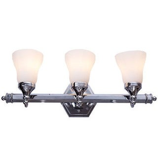 Costway 3 Light LED Vanity Fixture Polished Chrome Wall Sconces Lighting  Bathroom