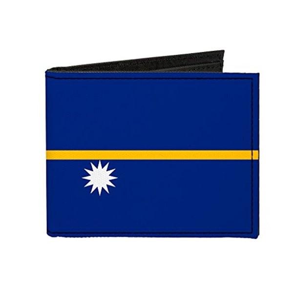 Buckle-Down Canvas Bi-fold Wallet - Nauru Flag Accessory
