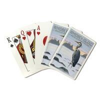 Whidbey Island, WA - Blue Heron - LP Artwork (Poker Playing Cards Deck)
