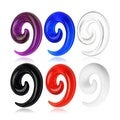 Acrylic Spiral Taper (Sold Individually) - Thumbnail 0