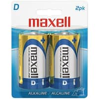 Maxell 723020 - Lr202Bp Alkaline Batteries (D; 2 Pk; Carded)