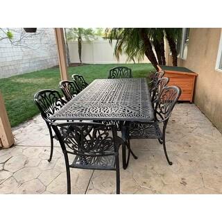 Havenside Home Carmel Cast Aluminum Rectangular 9-piece Dining Set