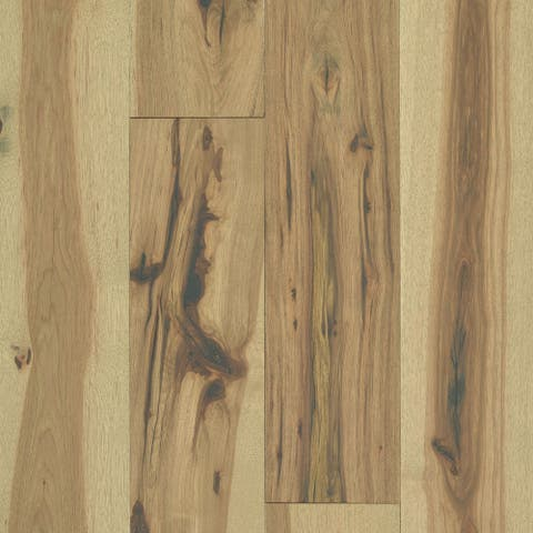 """Shaw SW673 Reflections Hickory 7"""" Wide Wire Brushed Engineered"""