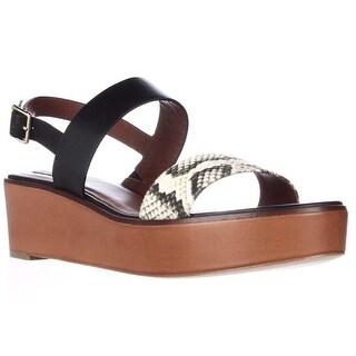 Cole Haan Cambon Platform Wedge Sandals - Black/Roccia