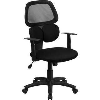Silkeborg Mid-Back Black Mesh Swivel Home/Office Task Chair w/Arms