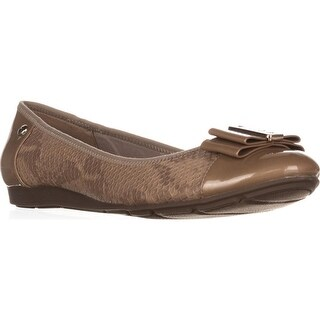Anne Klein Aricia Bow Toe Ballet Flats, Natural Multi - 8.5 us