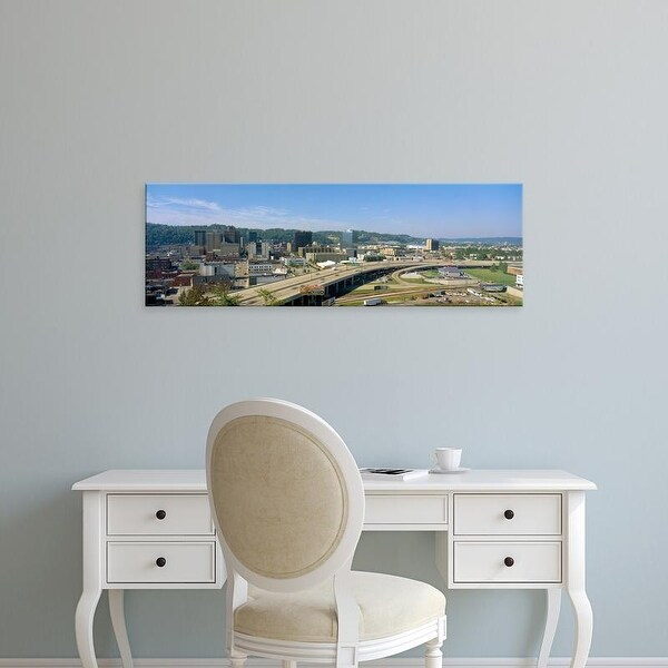 Easy Art Prints Panoramic Images's 'Charleston Skyline, State Capitol, West Virginia' Premium Canvas Art