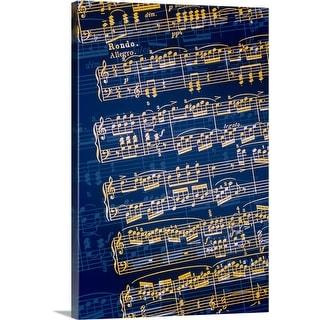 """""""Sheet of music"""" Canvas Wall Art"""