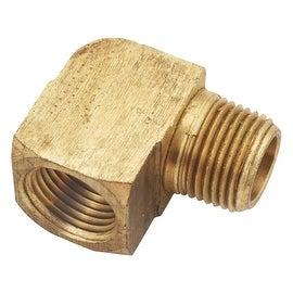 AMC 1/4 Ylw Brass St Elbow
