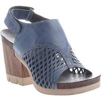 OTBT Women's Jet Set Sandal Blue Leather