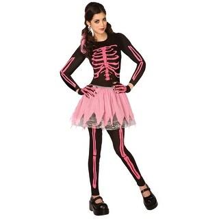 LF5433XS Morris Costumes Pink Punk Skeleton Adult ,S