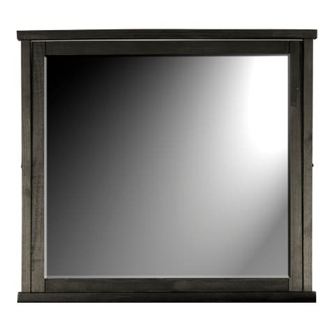 Simply Solid Sharla Solid Wood Rectangle Mirror - Charcoal