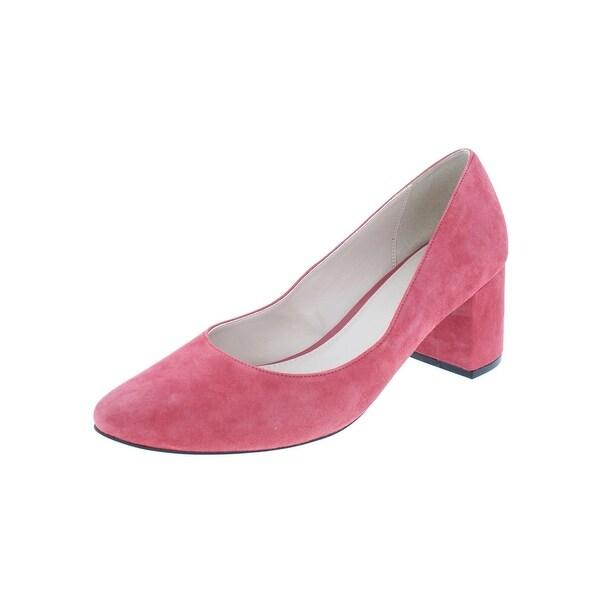 fb8ae7b05f Cole Haan Womens Justine Dress Heels Suede Block Heel - 8 Medium (B,M