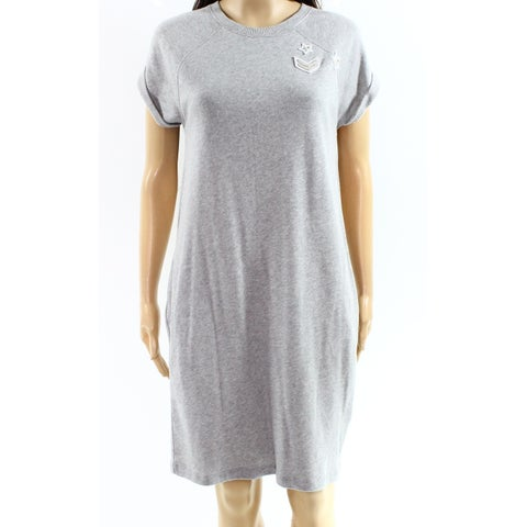 Lauren By Ralph Lauren Gray Womens Size Large L Sheath Dress