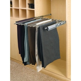 """Rev-A-Shelf PSC-1814  PSC Series 14"""" Depth Pull Out Rack for 9 Pairs of Pants - Chrome"""