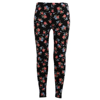 Girls Stretchy Leggings Trousers navy Rose