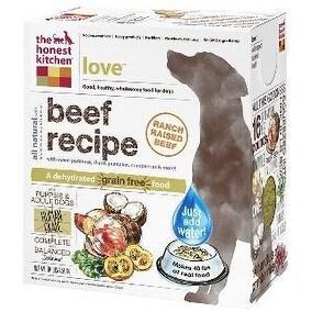 Honest Kitchen Love Grain Free Beef Dog Food 10lb