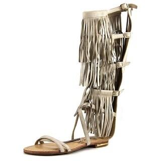 Luichiny Caught Me Women Open Toe Suede Gladiator Sandal