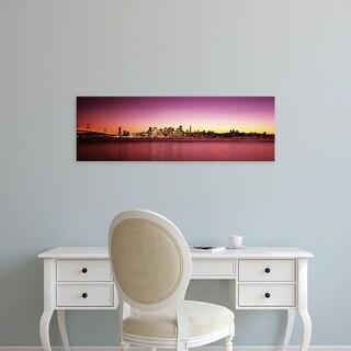 Easy Art Prints Panoramic Images's 'Buildings at the waterfront, Bay Bridge, San Francisco Bay, California' Canvas Art
