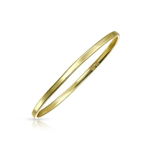 001e6d4f61f4c5 Classic Simple Thin Band Midi Knuckle Ring 14K Gold Plated 925 Sterling  Silver