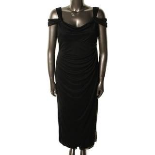 Alex Evenings Womens Petites Sleeeveless Drapey Evening Dress - 16p