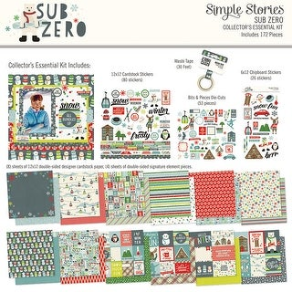 Simple Stories Collector's Essential Kit-Sub Zero