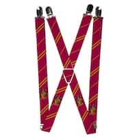Buckle Down Elastic Harry Potter Hogwarts House Emblem Clip End Suspenders - one size