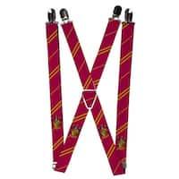 Buckle Down Kids' Elastic Harry Potter Hogwarts House Emblem Clip End Suspenders